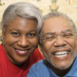 seniopr couple smiling